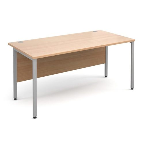 H Frame 1600mm Deep Straight BEECH Ergonomic Office Desk-0