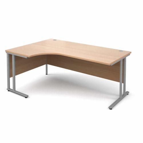 Left Hand Corner Desk Beech 1800mm