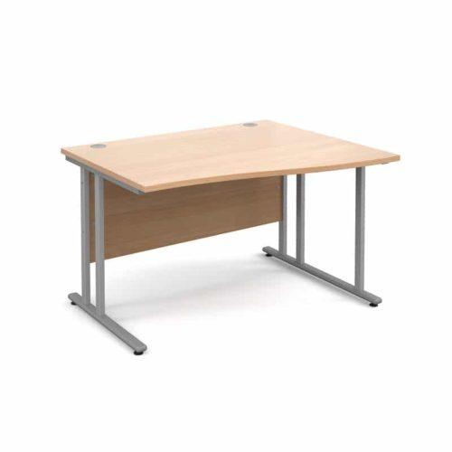 BiMi 1600mm x 800mm Right Hand Wave Desk in Beech