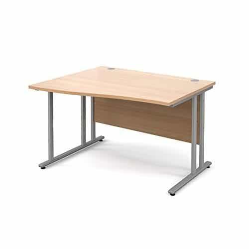 BiMi 1600mm x 800mm Left Hand Wave Desk in Beech
