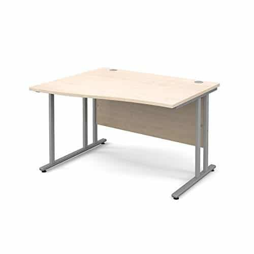 BiMi 1400mm x 800mm Left Hand Wave Desk in Maple