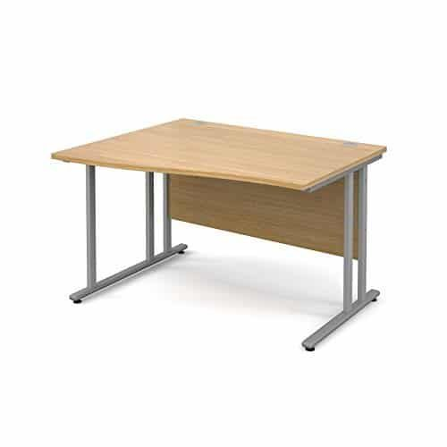 BiMi 1400mm x 800mm Left Hand Wave Desk in Oak