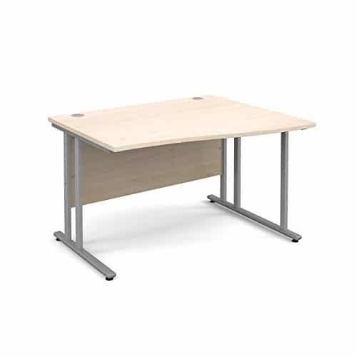 BiMi 1600mm x 800mm Right Hand Wave Desk in Maple