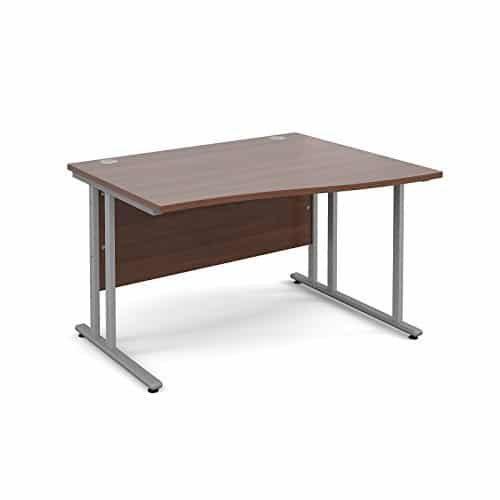 BiMi 1600mm x 800mm Right Hand Wave Desk in Walnut