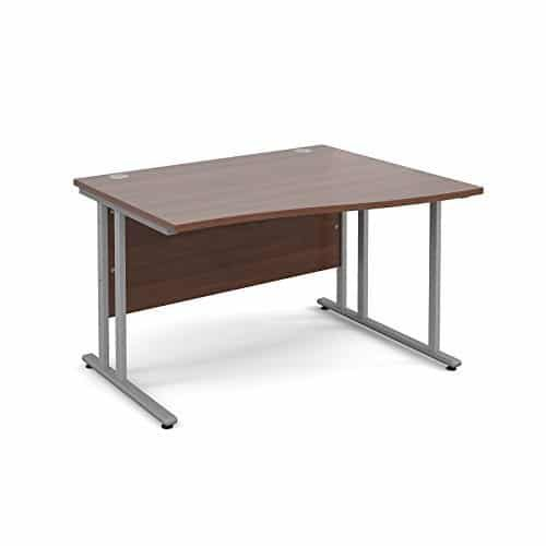 BiMi 1400mm x 800mm Right Hand Wave Desk in Walnut