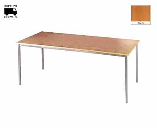 DAMS 1200 Silver Frame Flexi Table, Wood, Beech