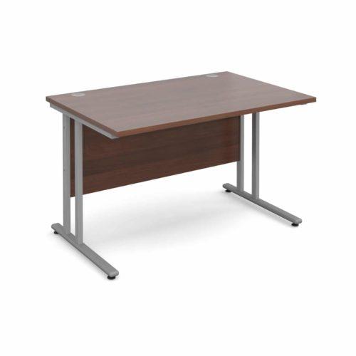 BiMi 1400 x 800 Rectangular Desk Complete With 2 Draw Pedestal Walnut