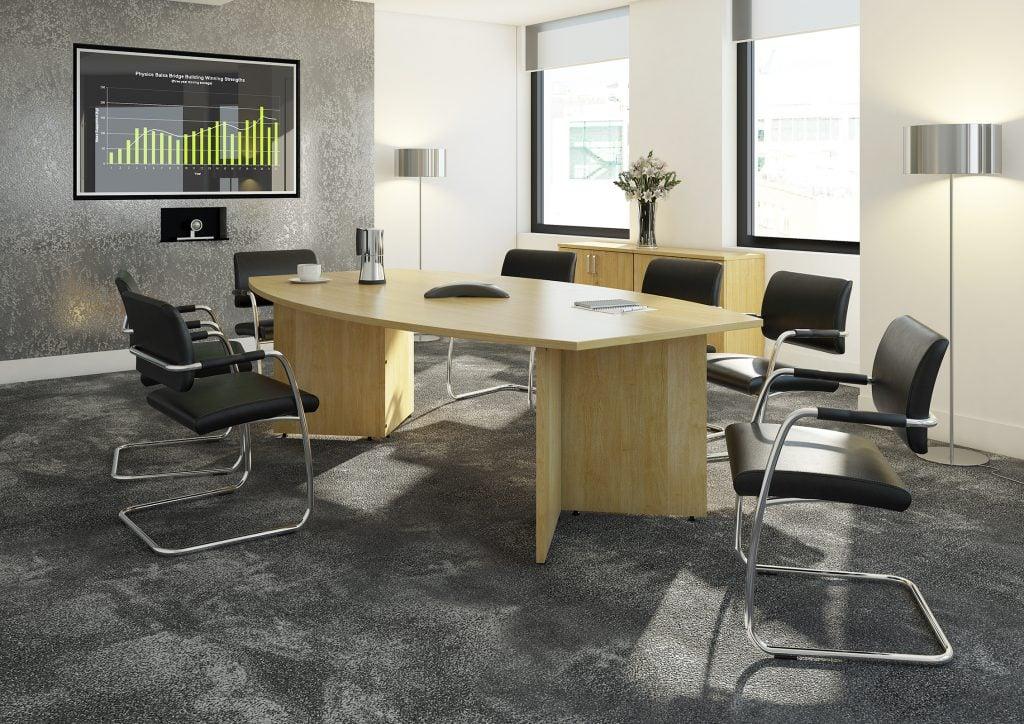 Maple Rectangular Boardroom Tables-Arrow-head