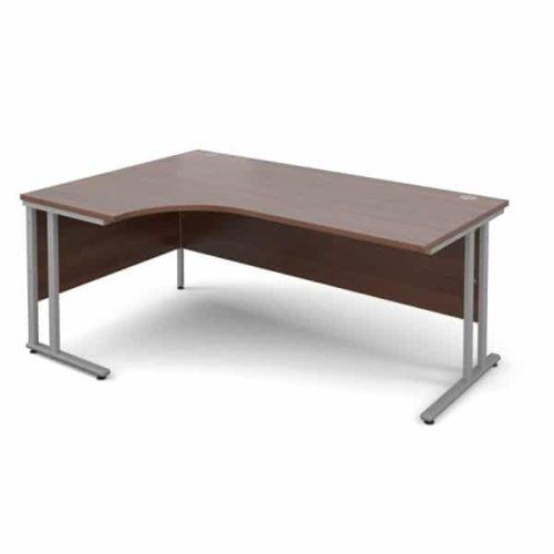 Walnut Ergonomic 1600mm Left Hand Corner Office Desk Computer Table-0