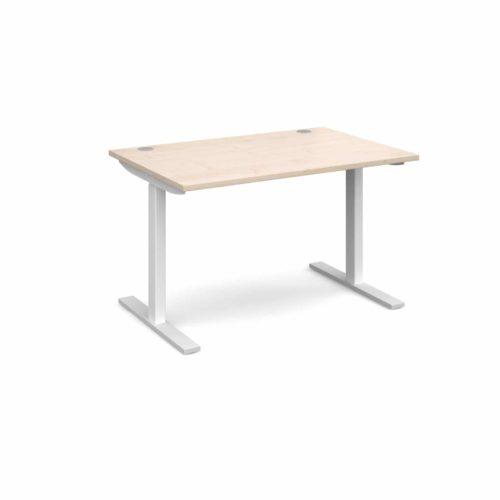 Elev8 1200 x 800 Sit Stand Desk - White frame - Maple-0
