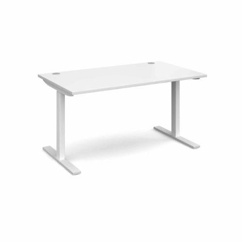 Elev8 1400 x 800 Sit Stand Desk - White frame - White-0