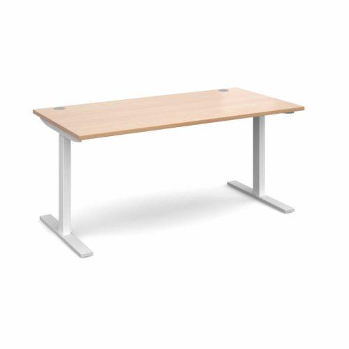 Elev8 1600 x 800 Sit Stand Desk - White frame - Beech-0