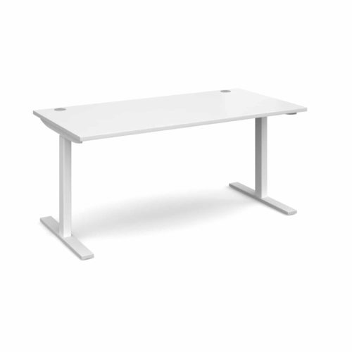 Elev8 1600 x 800 Sit Stand Desk - White frame - White-0