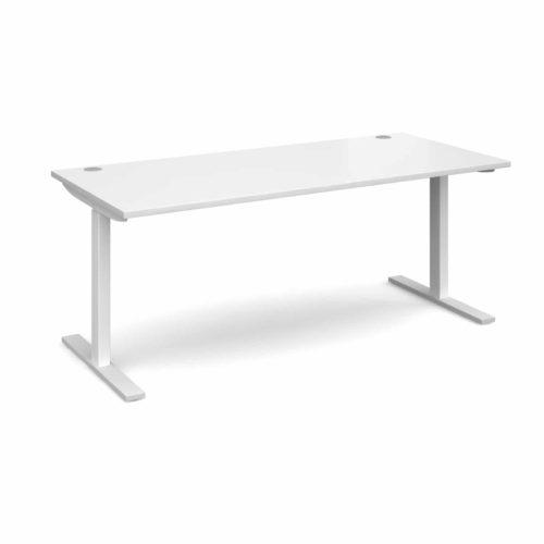Elev8 1800 x 800 Sit Stand Desk - White frame - White-0