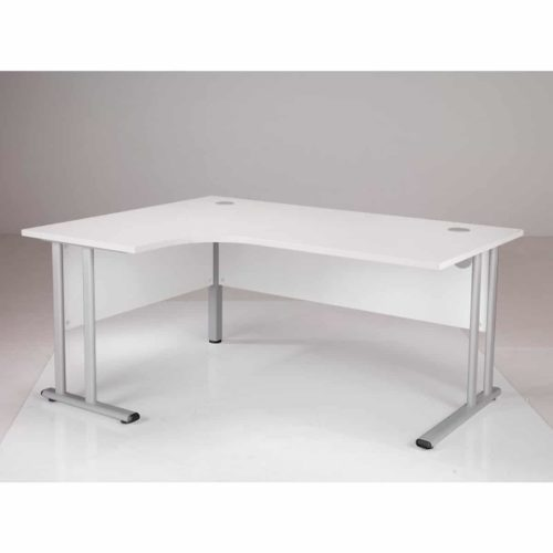 White 1800mm Left Hand Corner Desk