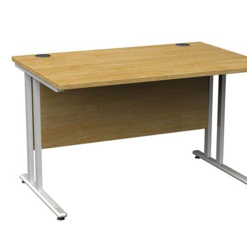 Rectangular Straight Desk Oak - 800mm x 800mm-0